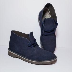 Clarks Bushacre 2 Men's Leather Boots Navy sz 10